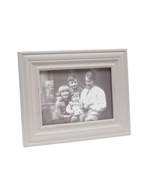 Fotolijst houten retro grijs geschilderd