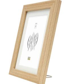 Fotolijst hout in eikkleur met passe-partout