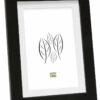 Fotolijst hout in zwart met witte passe-partout
