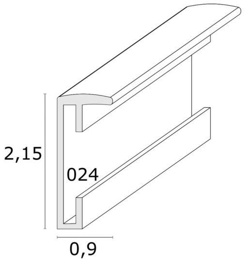 smalle fotolijst in zilverkleurig aluminium