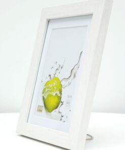 Fotolijst hout in wit met passe-partout