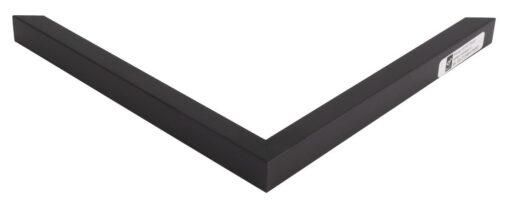 Wissellijst hout F142 zwart glad