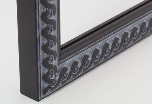 Luxe wissellijst hout F2702 Oud Zwart gevlochten