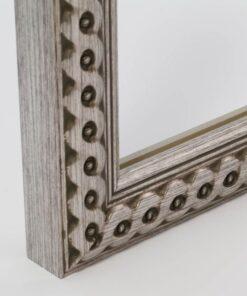 Luxe wissellijst hout F2711 Zilver gevlochten
