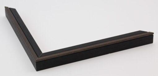 Wissellijst hout F2024 Zwart-bruin
