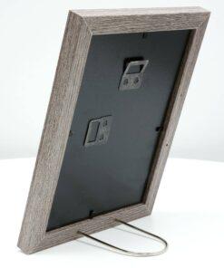 Fotolijst hout in vergrijsde eikkleur met passe-partout