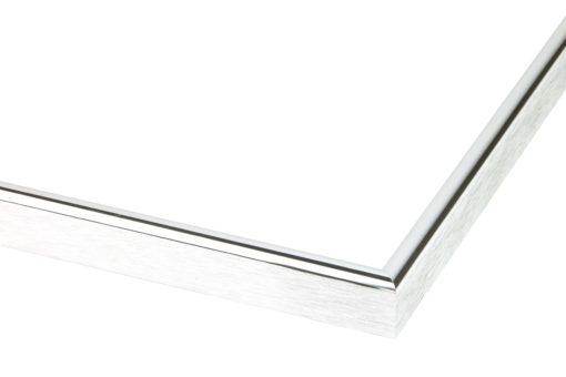 Wissellijst aluminium F160 Hoogglans zilver