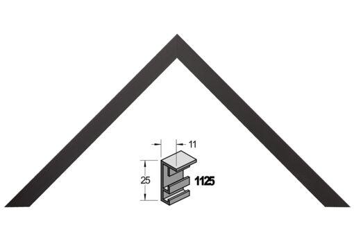 Barth wissellijst aluminium 1125ZW Zwart