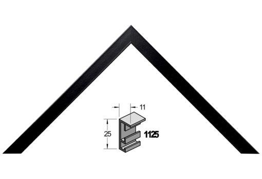 Barth wissellijst aluminium 1125ZWG Zwart gelakt