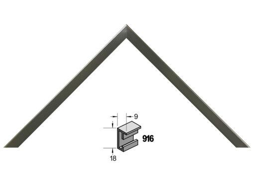 Barth wissellijst aluminium 916CG Contrast Grijs