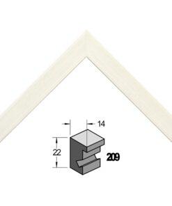 Barth wissellijst hout 209-300 Wit gewassen populier