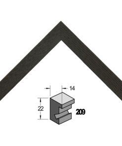 Barth wissellijst hout 209-711 Zwart essen