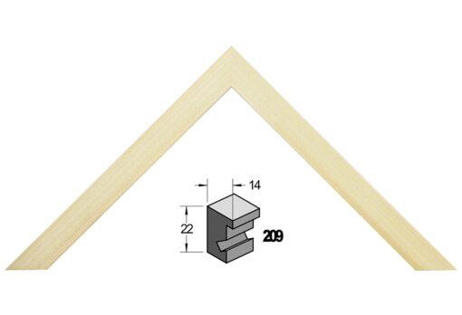 Barth wissellijst hout 209-777 Blank populier