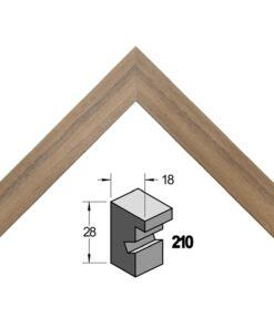 Barth wissellijst hout 210-555 Amerikaans noten (walnoot)