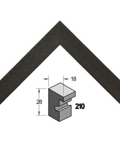 Barth wissellijst hout 210-711 Zwart essen