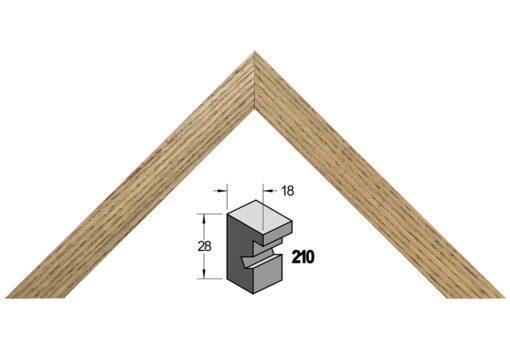 Barth wissellijst hout 210-911 Zwart gewassen essen