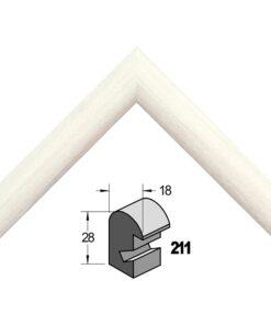 Barth wissellijst hout 211-300 Wit gewassen populier