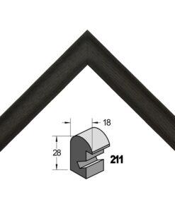 Barth wissellijst hout 211-711 Zwart essen