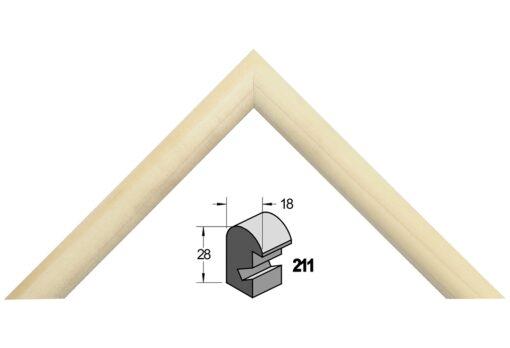 Barth wissellijst hout 211-777 Blank populier