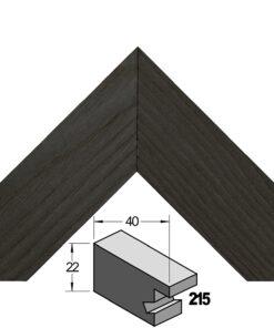 Barth wissellijst hout 215-711 Zwart essen