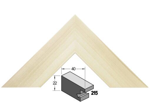 Barth wissellijst hout 215-777 Blank populier