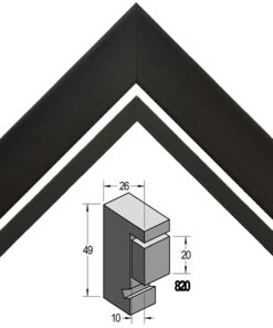 Barth Boxframe 3D hout 810-127 Zwart populier
