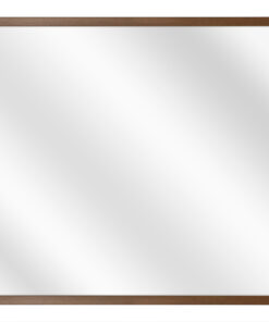 Aluminium spiegel F109 Walnoot fineer - 10mm