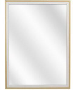 Houten spiegel F2024 Wit-Blank - 20mm