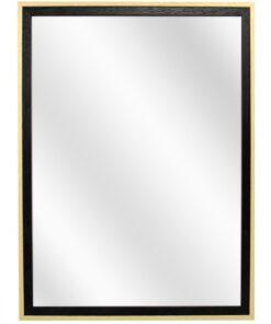 Houten spiegel F2024 Zwart-Blank - 20mm