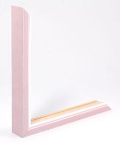 Wissellijst hout F302 3D Roze met witte space