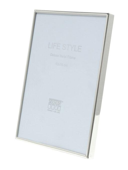 Fotolijst smalle aluminium fotolijst in glanzend zilver