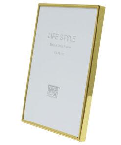 Fotolijst smalle aluminium fotolijst in glanzend goud