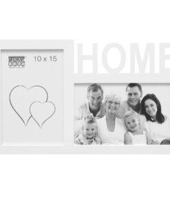 Multifotolijst 2x10x15 wit voor 2 foto's - HOME