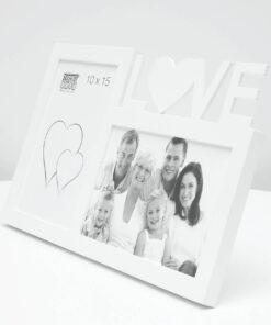 Multifotolijst 2x10x15 wit voor 2 foto's - LOVE