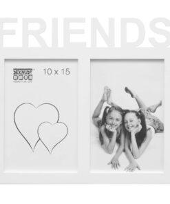 Multifotolijst 2x10x15 wit voor 2 foto's - FRIENDS