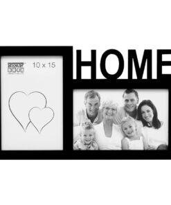 Multifotolijst 2x10x15 zwart voor 2 foto's - HOME