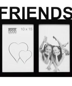 Multifotolijst 2x10x15 zwart voor 2 foto's - FRIENDS