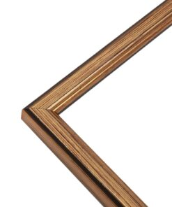 Fotolijst hout in goud - staal