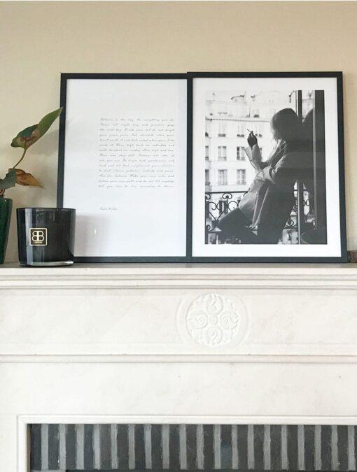 Houten fotolijst in zwart