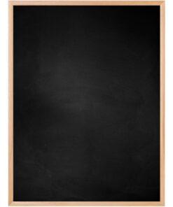 Krijtbord met aluminium lijst - Beuken - 10mm