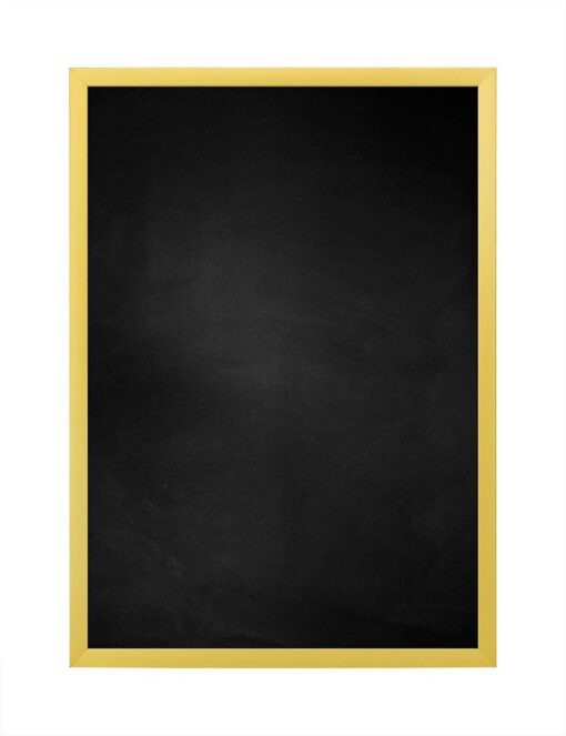 Krijtbord met aluminium lijst - Mat goud - 10mm