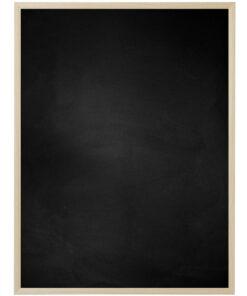 Krijtbord met aluminium lijst - Natuur eik - 10mm