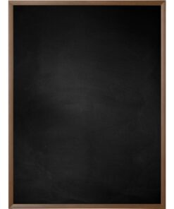 Krijtbord met aluminium lijst - Walnoot - 10mm