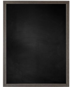Krijtbord met houten lijst - Antraciet Eik - 15mm