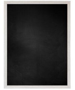 Krijtbord met houten lijst - Wit Eik - 15mm