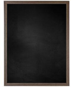 Krijtbord met houten lijst - Walnoot - 15mm