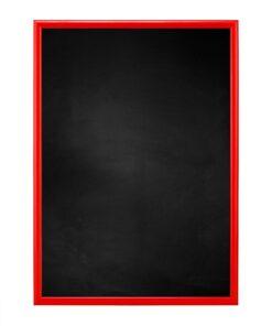 Krijtbord met aluminium lijst - Rood - 10mm