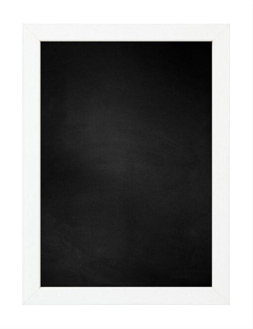 Krijtbord met houten lijst - Wit ingewassen - 20mm