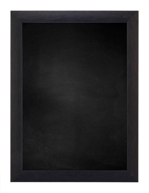 Krijtbord met aluminium lijst - Zwart geschuurd - 23mm