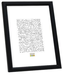 Smalle houten fotolijst in zwart